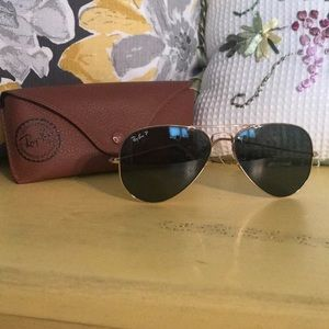 Ray-Ban polarized aviators!